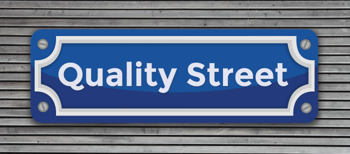 Quality Street sign illustration