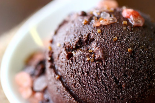 Dark Chocolate Sorbet with Himalayan Pink Salt
