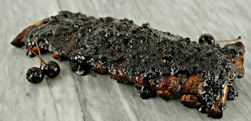 Ribs with Balsamic-Amarena Sauce Recipe