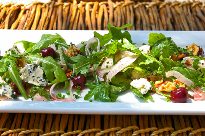 Shaved Fennel, Guinette Cherries, and Arugula Salad Recipe