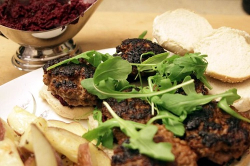 Smoked Paprika Burgers with Beet Relish Recipe