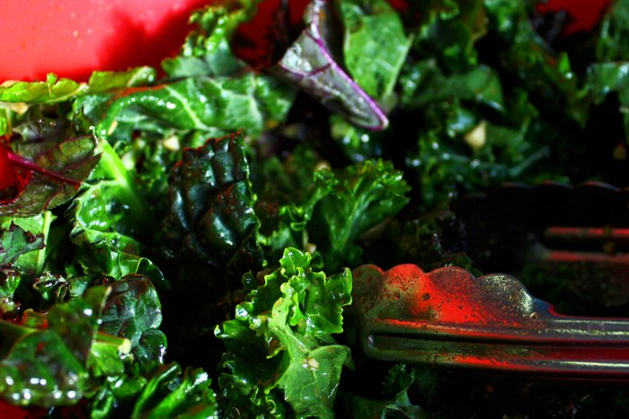 Kale, Marcona Almond and Blueberry Superfood Salad