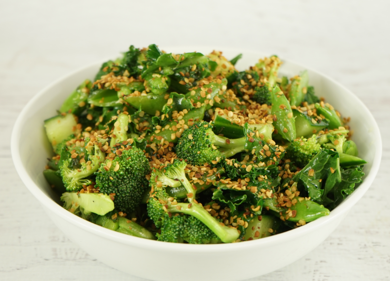 Broccoli, Snap Pea and Toasted Hemp Salad Recipe