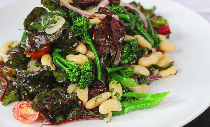 Broccolini and Cannellini Bean Salad
