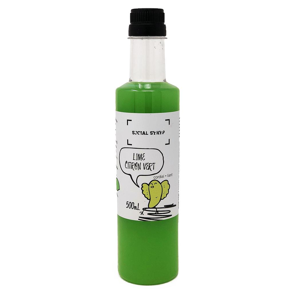 Lime Cordial 500 ml Social Syryp