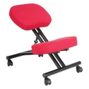 Fabric Kneeling Chair Red 1 pc Wudern