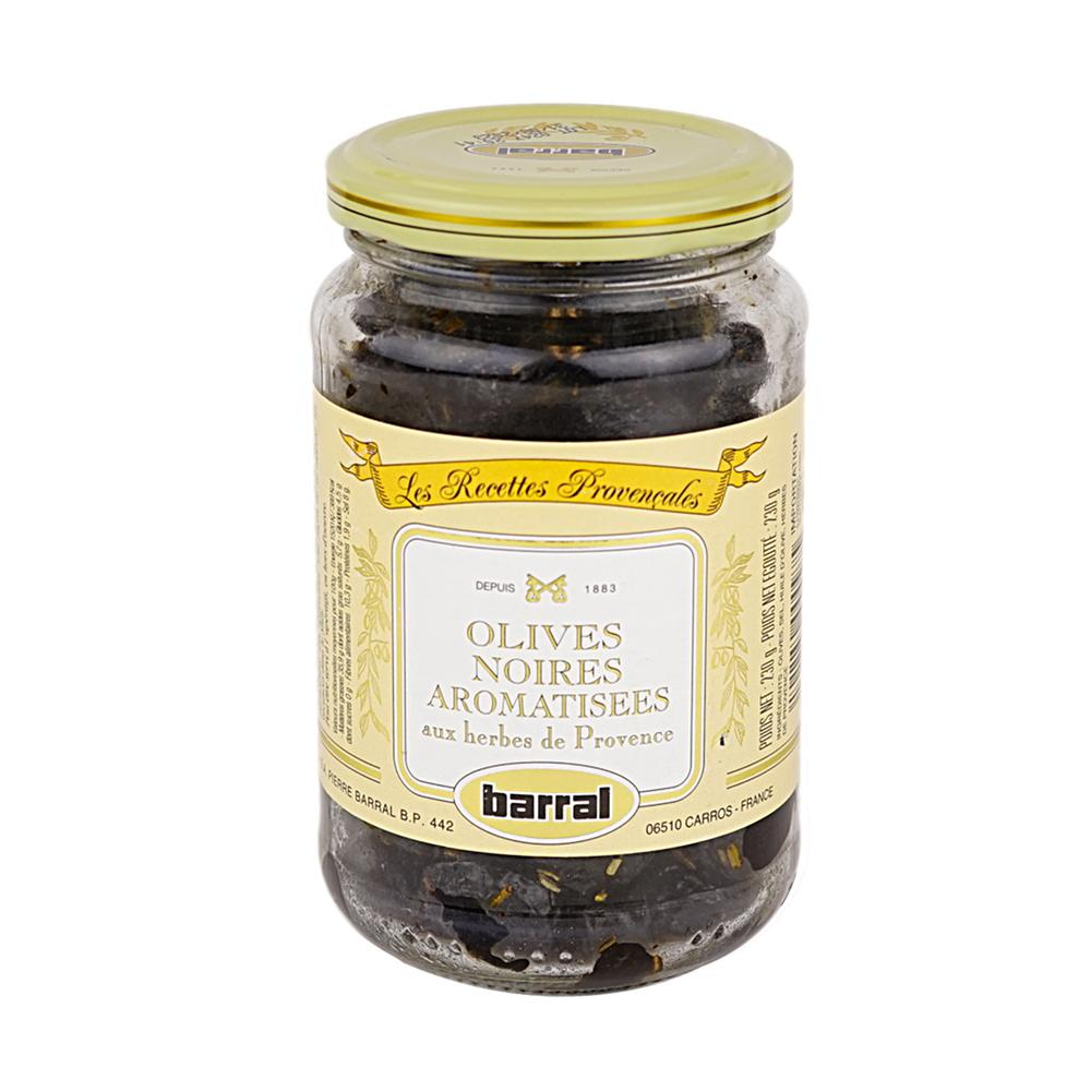 Black Cured Olives w/ Herb Provence 370 ml Barral