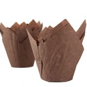 Tulip Baking Cups 50x130mm Brown 1000 pc Royal Command