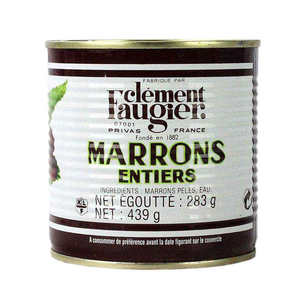 Chestnuts Whole in Water Tinned 439 g Faugier