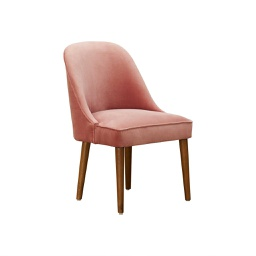 [AMA0121] Amalfi Pink Velvet Dining Chair - 1 pc Wudern