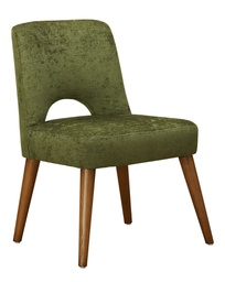[MOD0123] Modena Wide Dining Chair Green - 1 pc Wudern