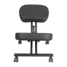 [WDK-1001] Leather Kneeling Chair Black 1 pc Wudern