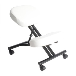 [WDK-1002] Leather Kneeling Chair White 1 pc Wudern
