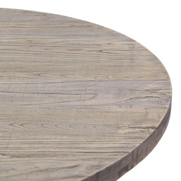 [TUV1300C-B] Tuve Large Round Dark Stained Wood Dining Table - 1 ct Wudern