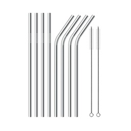 [ARTG-8014] Straw Stainless Steel Assorted Set 1 ct Artigee
