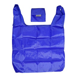 [KNU-8005] Shopping Bag Foldable Blue 1 pc Inknu