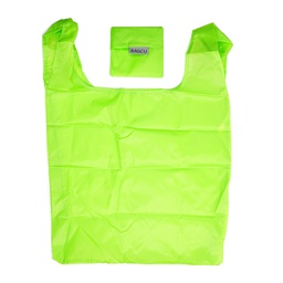 [KNU-8010] Shopping Bag Foldable Green 1 pc Inknu