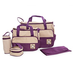 [KNU-8026] Diaper Bag 5pcs Set Purple 1 pc Inknu