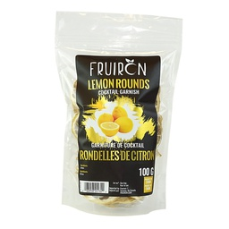 [241204] Lemon Rounds Cocktail Garnish 100 g Fruiron