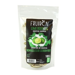 [241206] Lime Rounds Cocktail Garnish 100 g Fruiron
