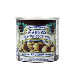 [060702] Chestnuts Whole Vacuum Pack Tinned 240 g Faugier