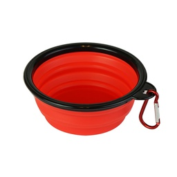 [ARTG-8053R] Collapsible Bowl for Pets Red 1 pc Artigee