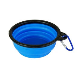 [ARTG-8053B] Collapsible Bowl for Pets Blue 1 pc Artigee