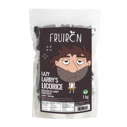 [259014] Lazy Larry's Licorice (Black Licorice) 1 kg Fruiron