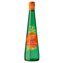 [163752] Ginger & Lemongrass Cordial 500 ml Bottle Green
