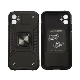 [CAN2002R] Shockproof Iphone 11 Case  Black 1 pc Cananu