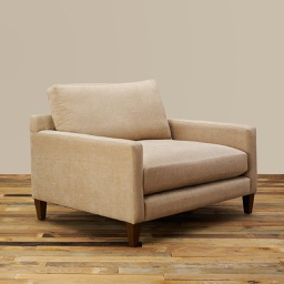 [ROM0104] Romo Beige Large Oversized Lounge Chair - 1 ct Wudern