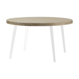 [TUV1300A-W] Tuve Large Round Light Stained Wood Dining Table - 1 ct Wudern