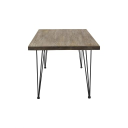 [BOS1659C-B] Bo Large Dark Stained Wood Dining Table - 1 ct Wudern