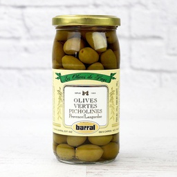 [121654] Olives Vertes Picholine 370 ml Barral