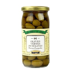 [121654] Picholine Green Olives 370 ml Barral