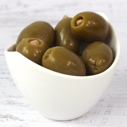[123162] Green Olives Stuffed w/Almond 1.89 L Royal Command