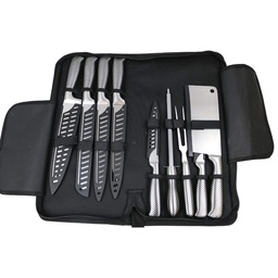 [ARTG-4001] Knife Set w/Carry Case 9 piece 1 pc Artigee