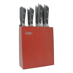 [ARTG-4003] Knife Set w/Block 9 Piece 1 pc Artigee