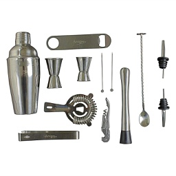 [ARTG-5003] Stainless Steel Bar Set 13 Piece 1 pc Artigee