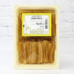 [152616] Lemon Peels Candied Baton 1 kg Sabaton