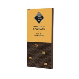 [170570] Milk Chocolate 45% Bar 'Speculoos' 100 g Michel Cluizel