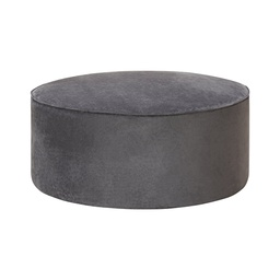 [HUG4605] Hugo Pouf Chair Velvet Charcoal - 1 pc Wudern