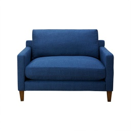 [ROM1204] Romo Blue Large Oversized Lounge Chair - 1 ct Wudern